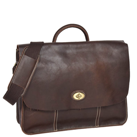 Brown Leather Satchel Shoulder Bag
