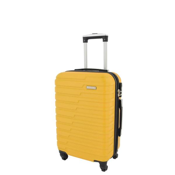4 WHEELS LUGGAGE YELLOW ABS
