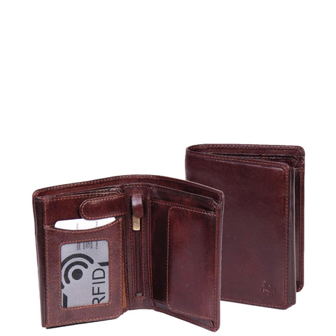 Mens Rfid Blocking Leather Bifold Wallet