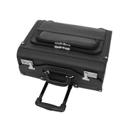 Wheeled Pilot Case Black Faux Leather Briefcase Business Rep Cabin Bag Dallas Top Letdown