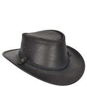 Authentic Australian Bush Leather Cowboy Hat Black