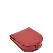 Real Leather Classic Coin Tray Wallet Small Pouch Loose Change Purse AVT5 Red