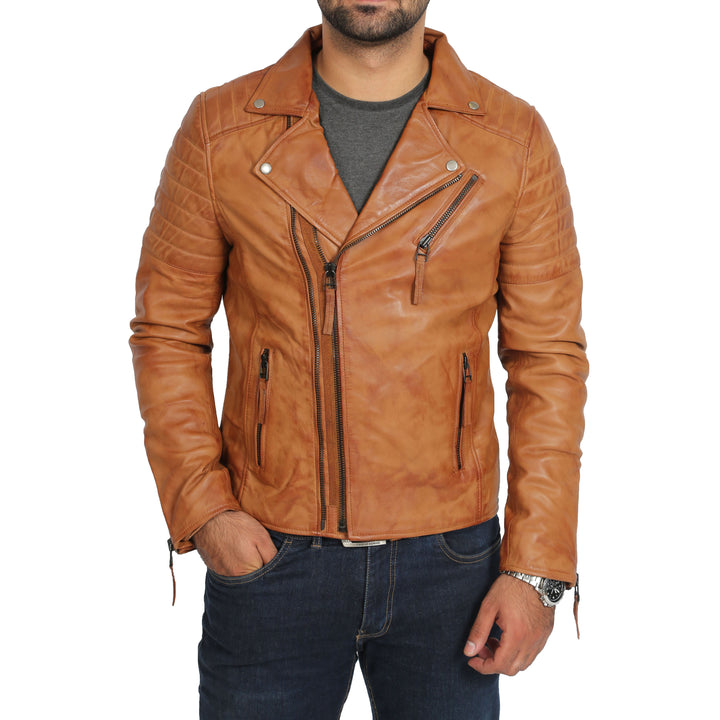 TAN ZIP FASTEN SLIM FIT DESIGNER COAT