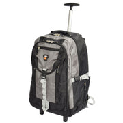 Cabin Size Wheeled Backpack Hiking Camping Travel Bag Olympus Grey