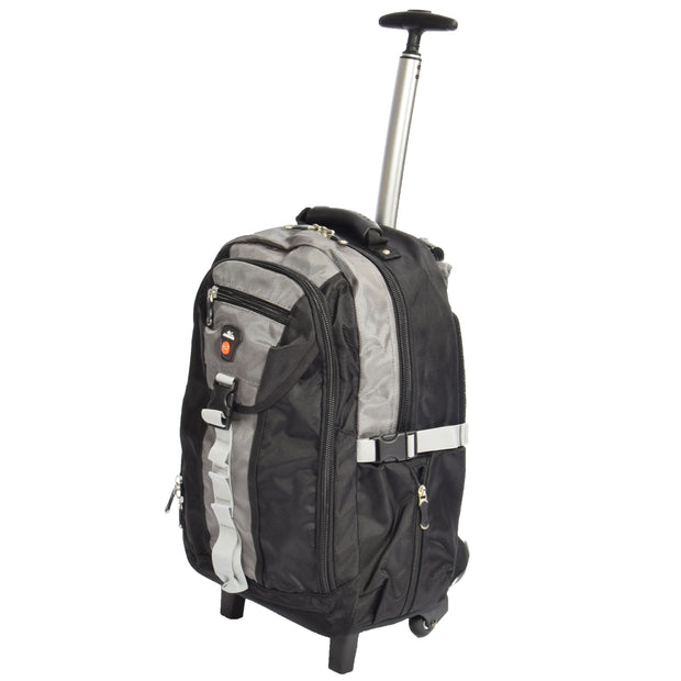 Wheeled Backpack Small Cabin Hiking Camping Travel Bag Fuji Grey