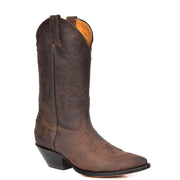 Real Leather Pointed Toe Cowboy Boots AZ350 Brown