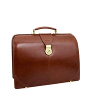 Exclusive Doctors Leather Bag Cognac Italian Briefcase Gladstone Bag Doc
