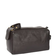 Genuine Soft Leather BROWN Travel Wash Bag A179