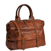 Real Leather Holdall Weekend Cabin Bag Bali Rust