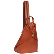 Womens Luxury Leather Backpack Hiking Rucksack Organiser Bag A58 Brown