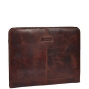 Luxury Leather Ring Binder Folio Document File Case Percy Brown