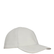 Genuine Leather Baseball Cap Sports Casual Viper White