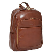 Womens Backpack Chestnut Real Leather Large Travel Rucksack Cora