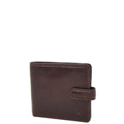 RFID Mens Top Quality Real Leather Wallet Bifold Slim Purse AVC4 Brown Front
