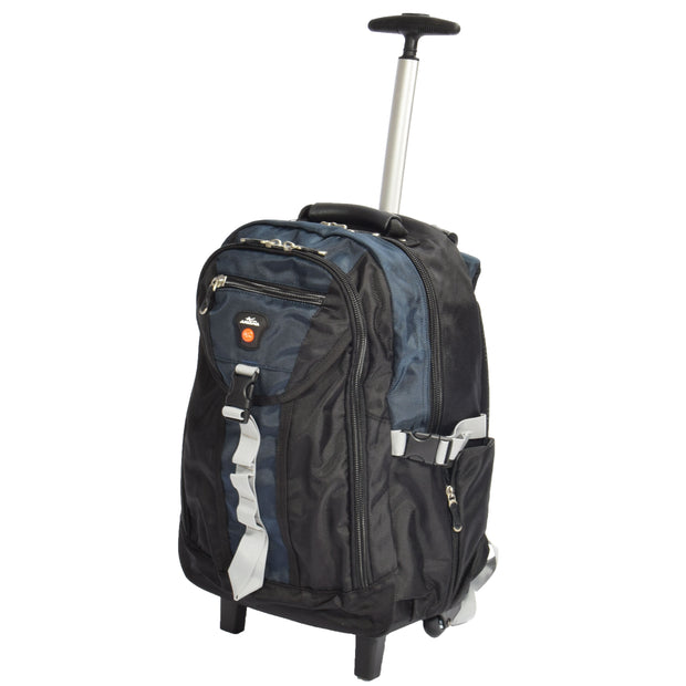 Wheeled Backpack Small Cabin Hiking Camping Travel Bag Fuji Blue