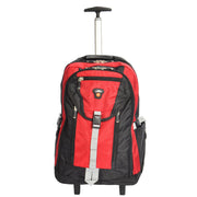 Cabin Size Wheeled Backpack Hiking Camping Travel Bag Olympus Red Front