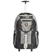 Cabin Size Wheeled Backpack Hiking Camping Travel Bag Olympus Grey Front