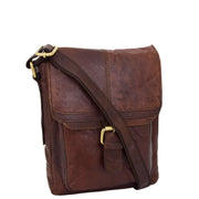 Genuine Brown Leather Bag Cross Body Vintage Flight Bag Tommy