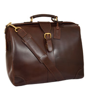 Genuine Leather Doctors Briefcase Gladstone Bag Duke Brown