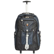 Cabin Size Wheeled Backpack Hiking Camping Travel Bag Olympus Blue Front