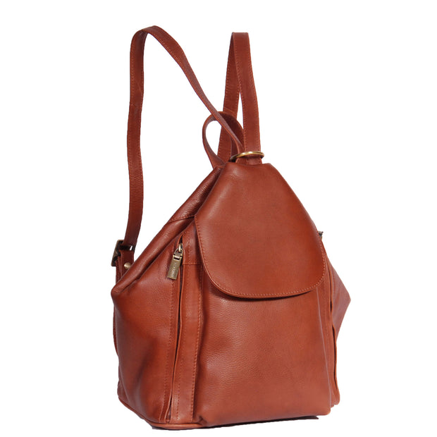 Womens Genuine Brown Leather Backpack Walking Bag A57