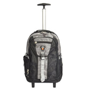 Wheeled Backpack Small Cabin Hiking Camping Travel Bag Fuji Grey Front
