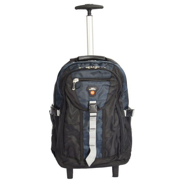 Wheeled Backpack Small Cabin Hiking Camping Travel Bag Fuji Blue Front