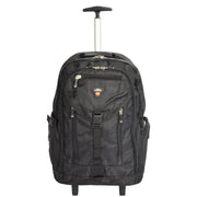 Cabin Size Wheeled Backpack Hiking Camping Travel Bag Olympus Black Front