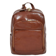 Womens Backpack Chestnut Real Leather Large Travel Rucksack Cora Front