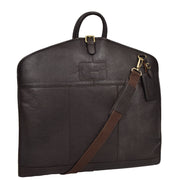 Luxury Leather Suit Carrier Bag Dress Garment Cover Finley Brown
