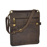 Genuine Brown Vintage Leather Cross body Sling Bag Napier