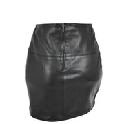 Womens Leather Mini Skirt Ivy Black back