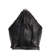 Womens Genuine Black Leather Backpack Walking Bag A57 Back