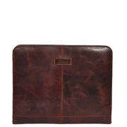 Luxury Leather Ring Binder Folio Document File Case Percy Brown Front