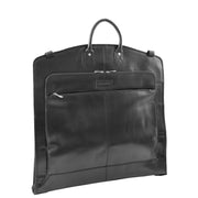 Exclusive Leather Slimline Travel Garment Bag Suit Carrier Dress Cover Remy Black