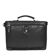 Genuine Leather Briefcase for Mens Business Office Laptop Bag Edgar Black Back