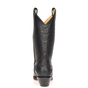 Real Leather Pointed Toe Cowboy Boots AZ350 Black Back