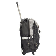 Wheeled Backpack Small Cabin Hiking Camping Travel Bag Fuji Grey Side