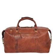 Genuine Leather Holdall Vintage Tan Travel Weekend Duffle Bag Rome Back