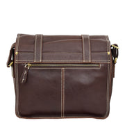 Real Leather Cross Body Shoulder Bag Multi Use Camera Organiser Bussell Brown Back