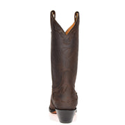 Real Leather Pointed Toe Cowboy Boots AZ350 Brown Back