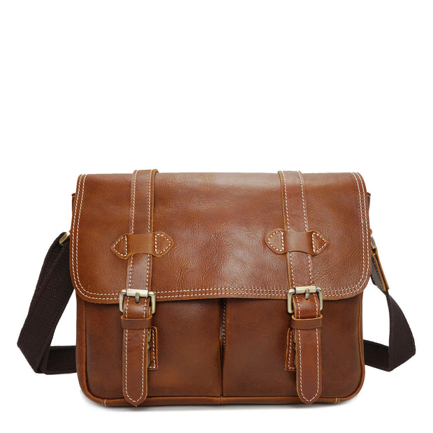 Real Leather Cross Body Shoulder Bag Multi Use Camera Organiser Bussell Tan