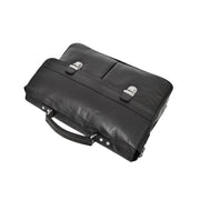 Genuine Leather Briefcase for Mens Business Office Laptop Bag Edgar Black Top Letdown