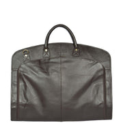 Genuine Soft Leather Suit Carrier Dress Garment Bag A173 Brown Front