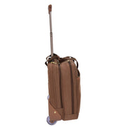 Pilot Case Wheeled Briefcase Camel Faux Suede Business Cabin Bag Stargazer Side