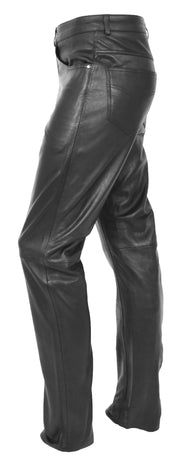Mens Genuine Soft Black Leather Trouser Ajax 3