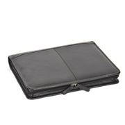 Zip Around Folio Leather Folder A4 Binder Organiser Underarm Bag A1 Black