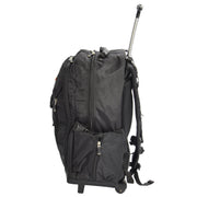 Cabin Size Wheeled Backpack Hiking Camping Travel Bag Olympus Black Side