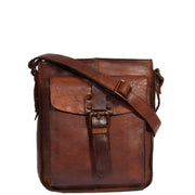 Real Leather Unisex Shoulder Flight Bag Trump Rust