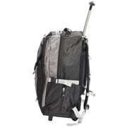 Cabin Size Wheeled Backpack Hiking Camping Travel Bag Olympus Grey Side